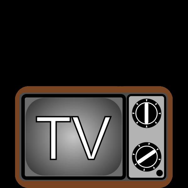 Old TV set vector illustration