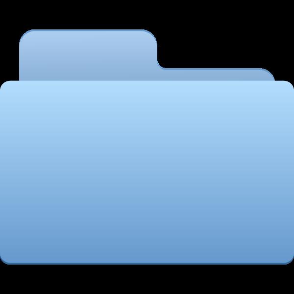 Blue closed office folder vector clip art