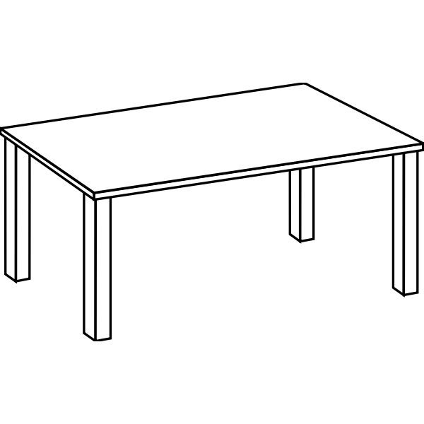 Table line art vector  clip art