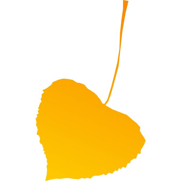 Yellow autumn leaf vector drawing