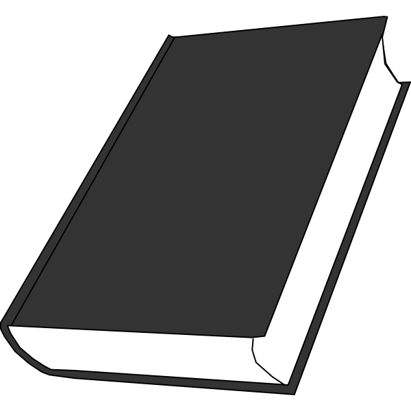 Tilted grayscale book
