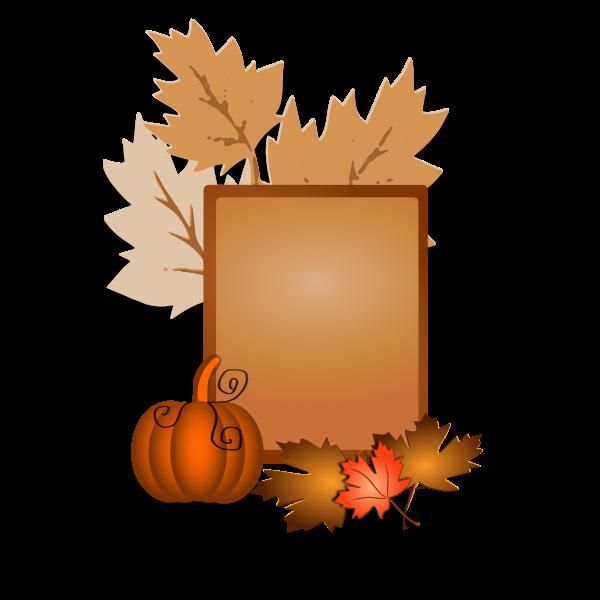 Autumn sign vector clip art