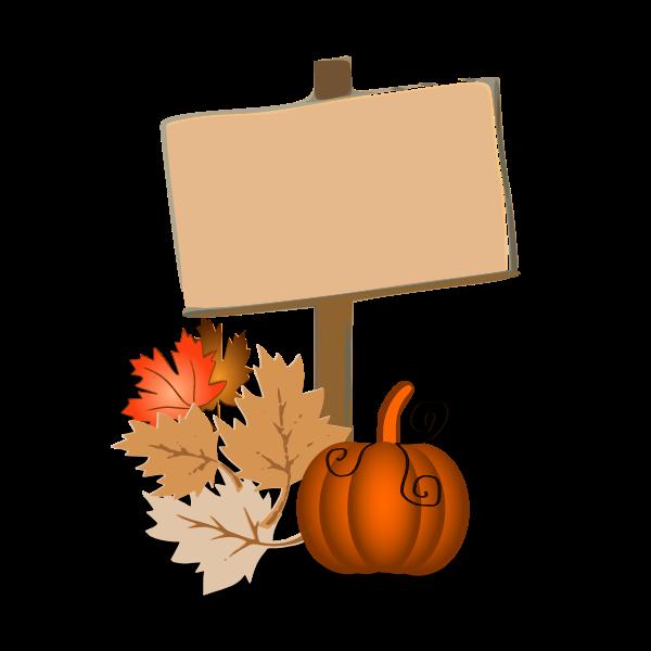 Autumn symbol vector graphics