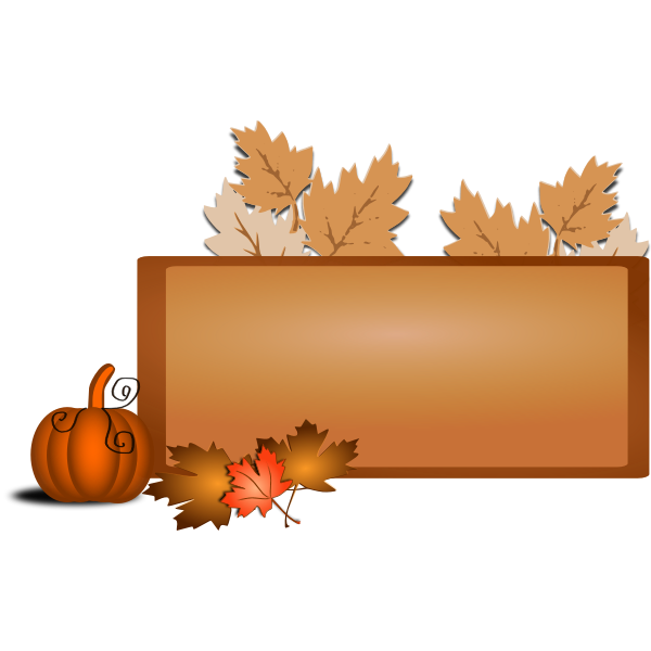 Brown fall border vector illustration