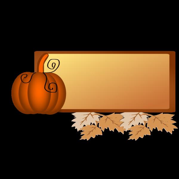Fall border vector illustration
