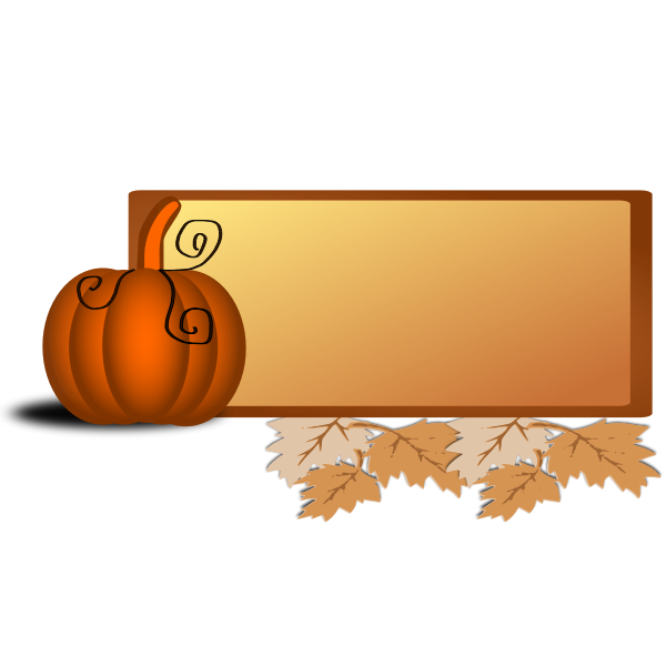 Fall border vector illustration