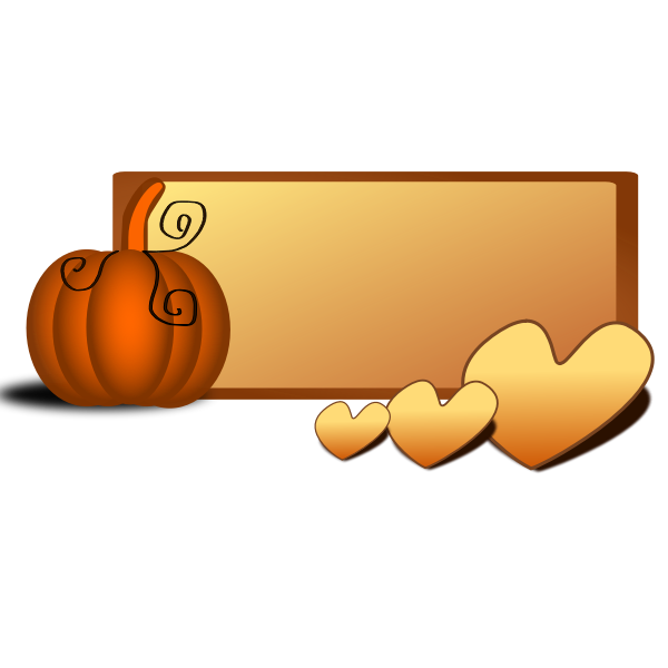 Fall border vector image