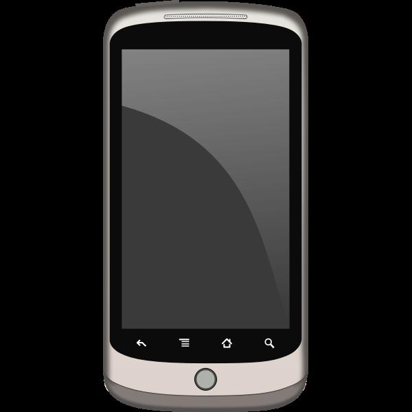Touchscreen phone vector image