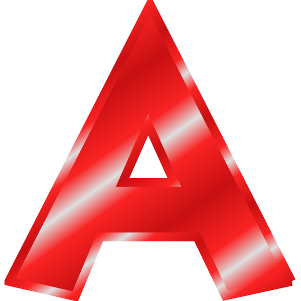 Red letter ''A''