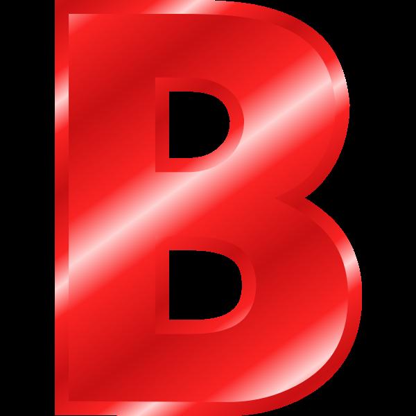 Glossy letter ''B''