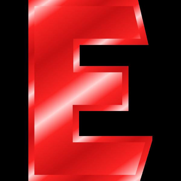 Glossy ''E'' letter
