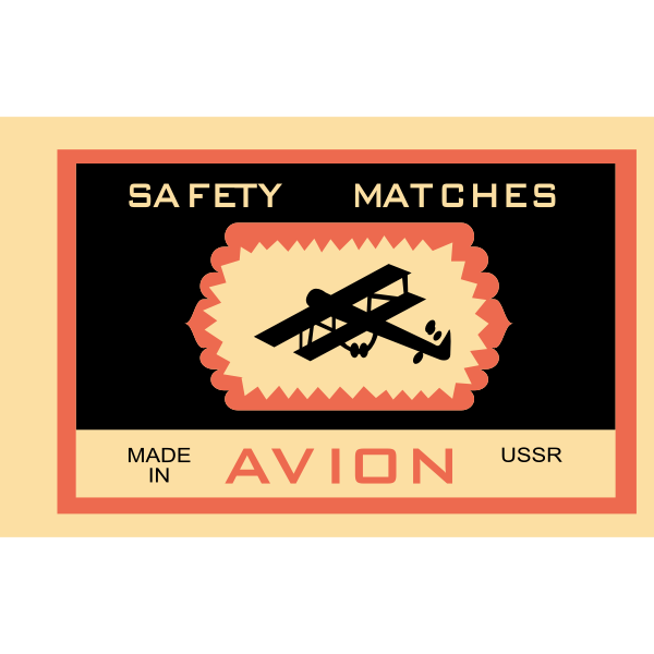 Matchbox label vector graphics