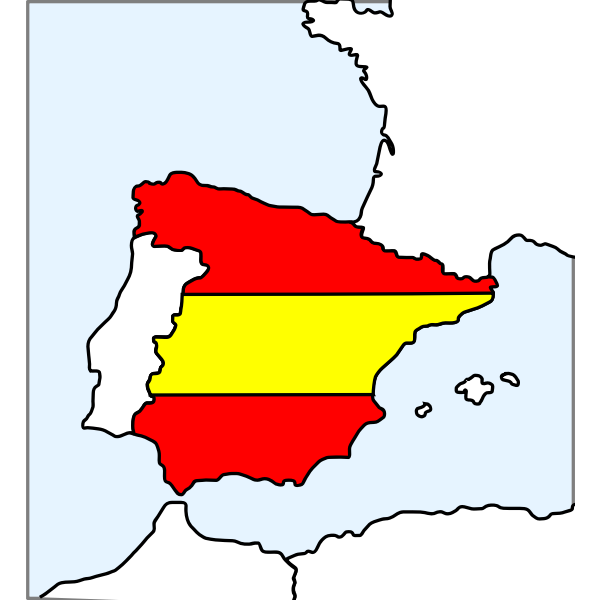 Map of Spain vector clip art