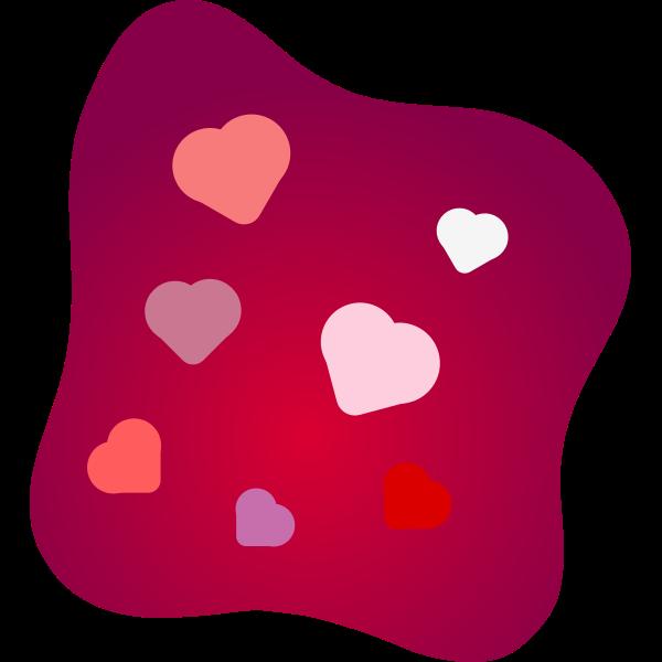 Love cushion vector image
