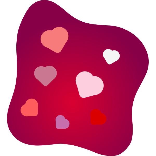 Love cushion vector image