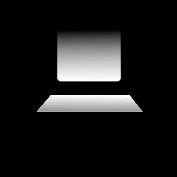 Personal computer icon vector clip art
