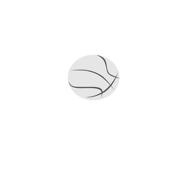 Simple basketball ball vector clip art