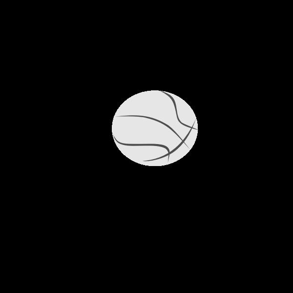 Simple basketball ball vector clip art
