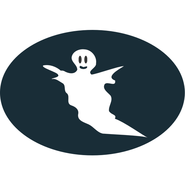 Ghost in oval silhouette vector image