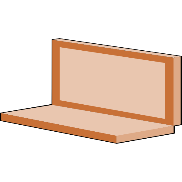 Brown laptop vector illustration