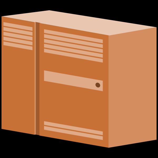 Brown server symbol vector illustration