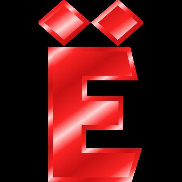 Effect Letters Alphabet red: Ã‹