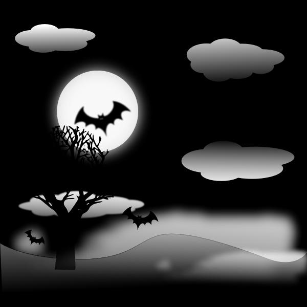 Dark Halloween landscape vector image