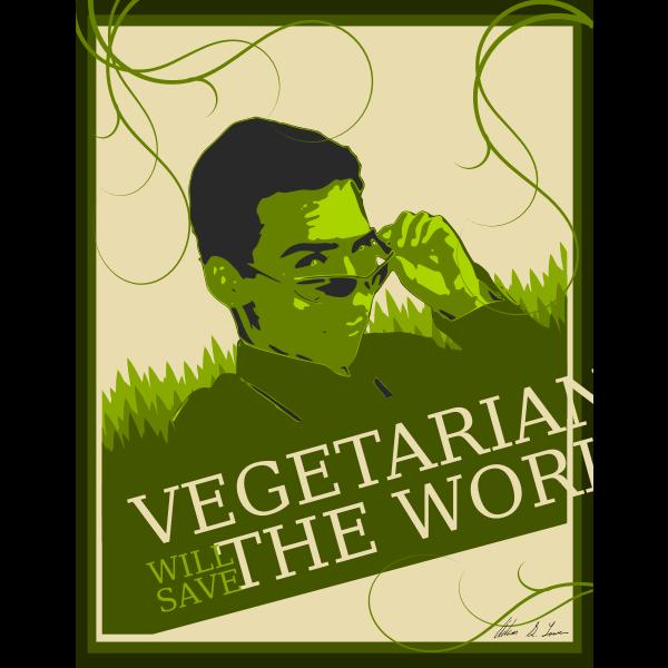 Vegetarianism poster vector image