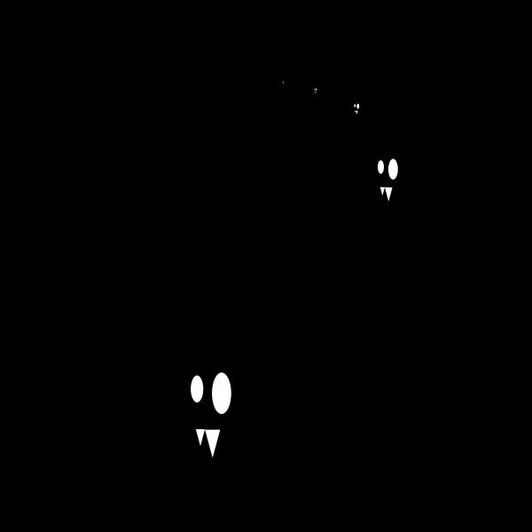 Vector clip art of bats at full moon