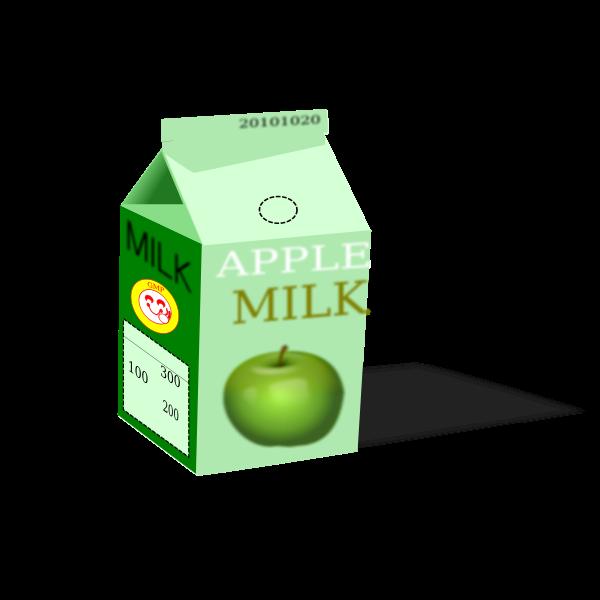 Vector clip art of apple milk carton
