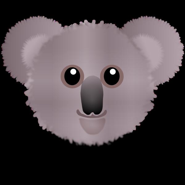 Cute koala bear head vector clip art