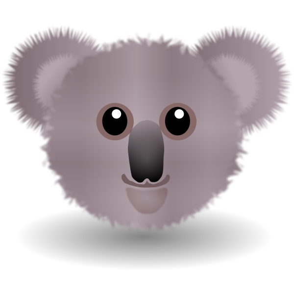 Cute koala bear head vector clip art