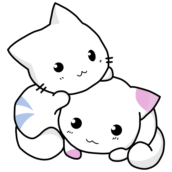 Cute kittens vector drawing