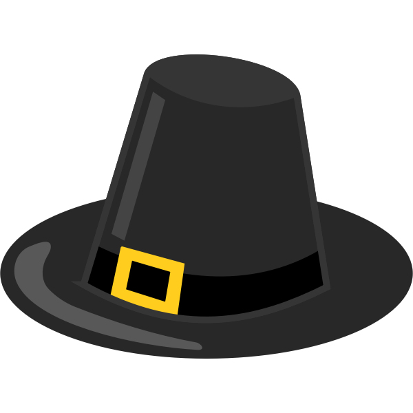 Pilgrim's hat with black band vector image