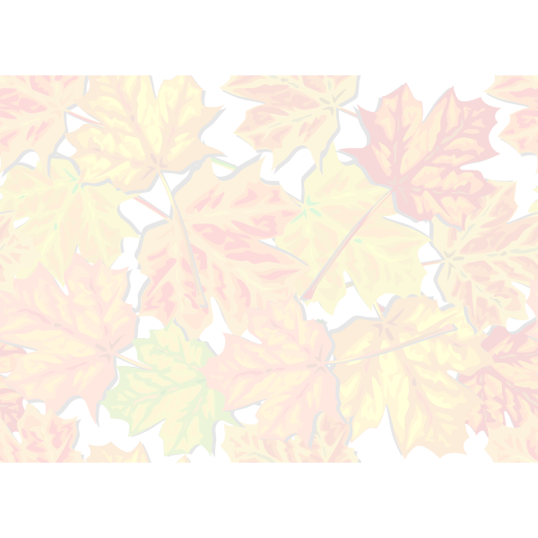 Faded autumn leaves vector image