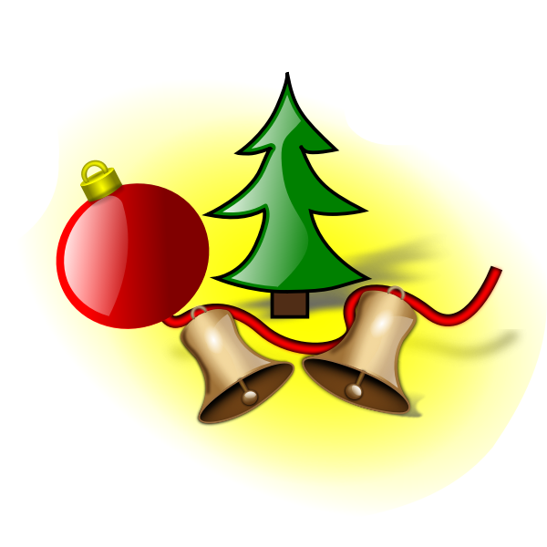 Christmas bells and balls vector