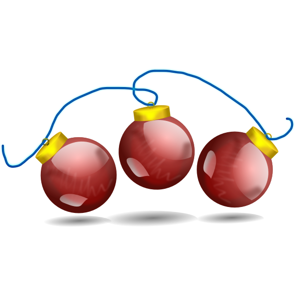 Christmas balls vector decoration