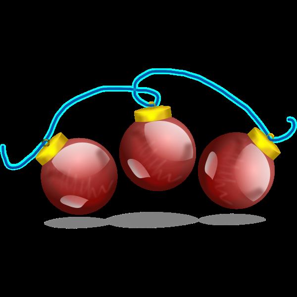 Christmas balls vector decoration