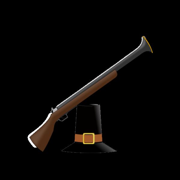 Hunters hat and gun vector image
