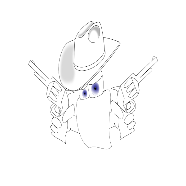 Cowboy robber vector drawing
