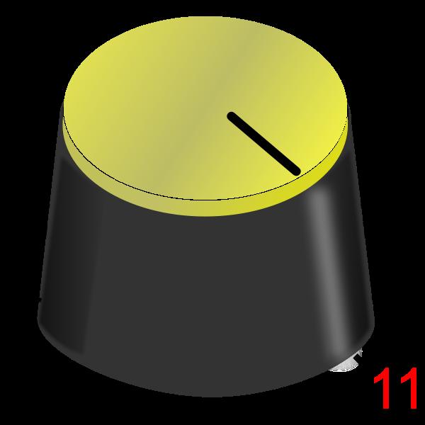 Volume knob at max level vector image