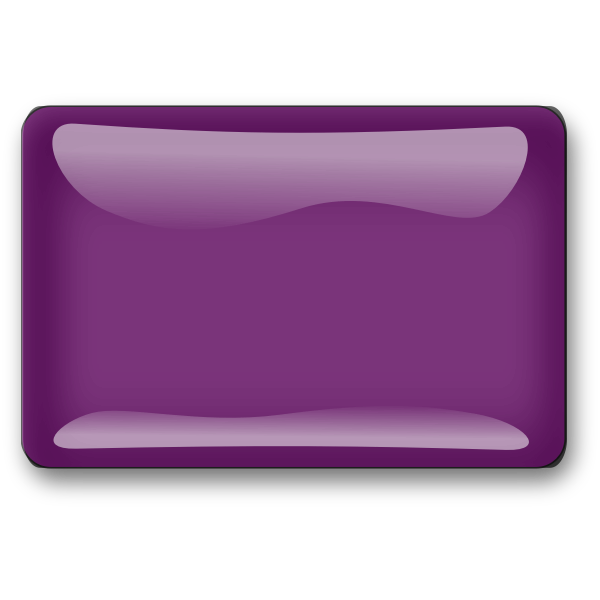Gloss violet square button vector image