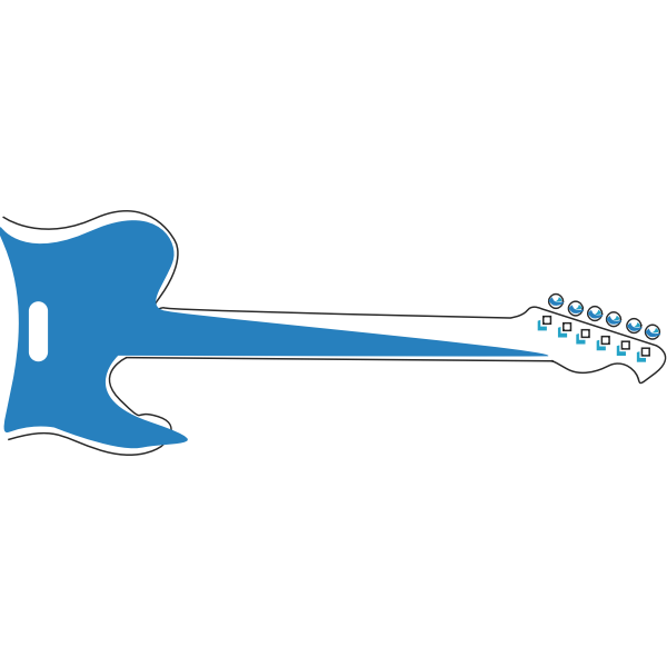 Blue electric guitar vector graphics
