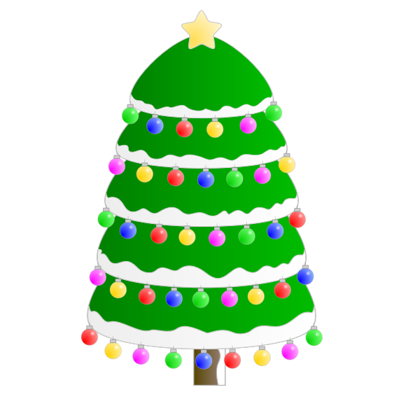 Christmas tree graphic vector