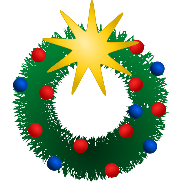 Festive Wreath Vector