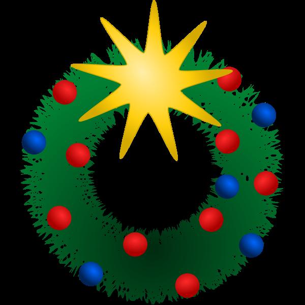 Festive Wreath Vector