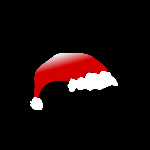 Red Santa Claus hat vector