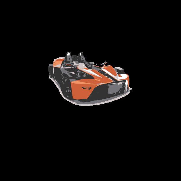 Sports car vector clip art