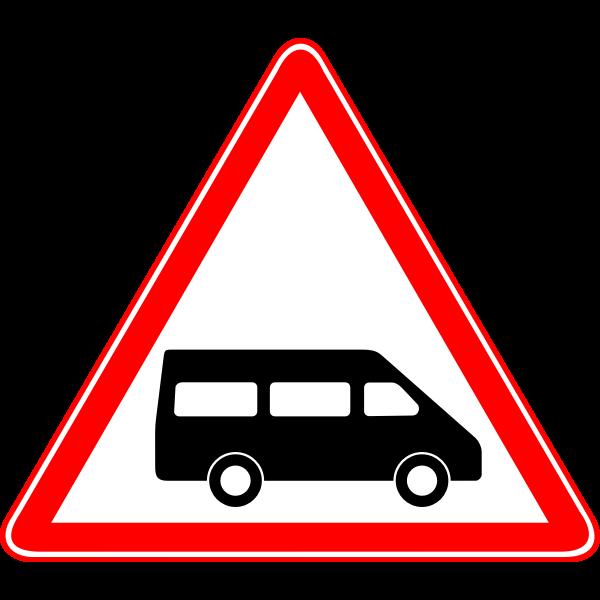 Dollar van traffic sign