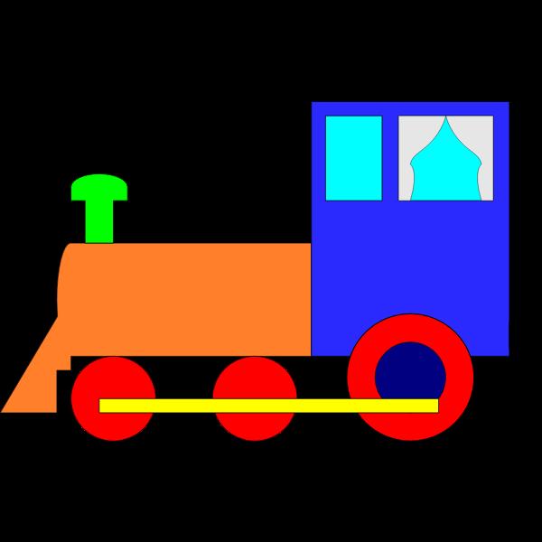 Locomotive cartoon graphics